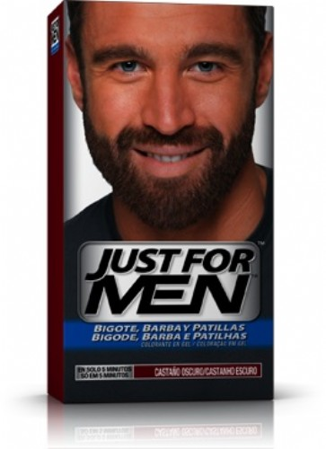 JUST FOR MEN BIGOTE Y BARBA - GEL COLORANTE (30 CC CASTAÑO OSCURO)