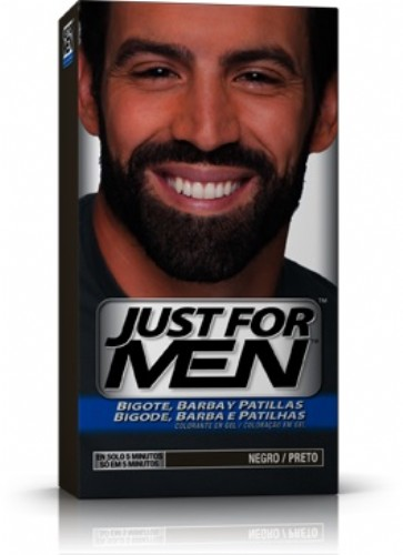 JUST FOR MEN BIGOTE Y BARBA - GEL COLORANTE (30 CC NEGRO)