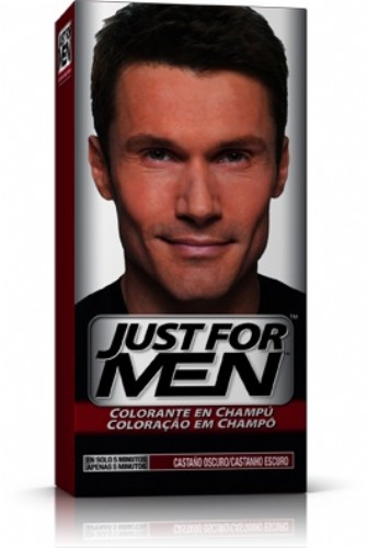 JUST FOR MEN - CHAMPU COLORANTE (66 CC CASTAÑO OSCURO)