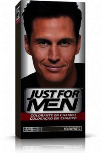 JUST FOR MEN - CHAMPU COLORANTE (66 CC NEGRO)