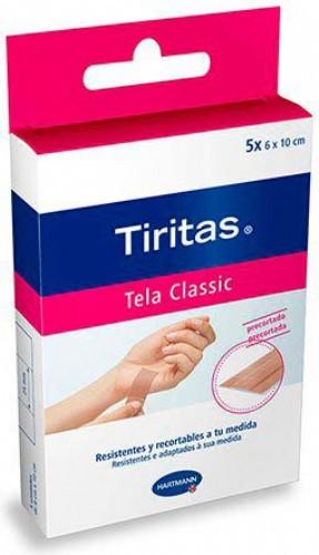TIRITAS CLASSIC - APOSITO ADHESIVO (PRECORT 1 M X 6 CM  10 U)