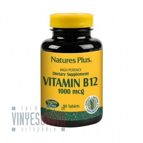 Nature's Plus Vitamina B-12 1000mcg 90 tabletas.