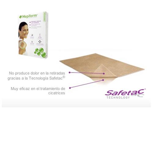 Mepiform Silicona Reductor De Cicatrices (10 X 18 Cm 5 U)