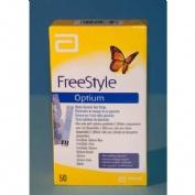 Tiras Reactivas Glucemia Freestyle Optium (50 U)