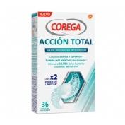 Corega Accion Total Limpiador Limpieza Protesis Dental (30 Tabletas)