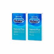 Durex Natural Plus Preservativos (12 Preservativos 2 Cajas)