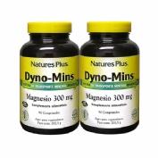 Nature's Plus Dyno-Mins Magnesio 300mg 90comp Pack 2u