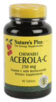 ACEROLA-C 250mg 90 CMP. NATURE'S PLUS
