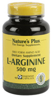L-ARGININA 500mg 90 CAP. NATURE'S PLUS