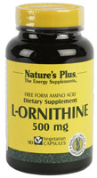 L-ORNITINA 500mg 90 CAP. NATURE'S PLUS