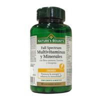 FULL SPECTRUM MULTIVITAMINAS+MINERALES 60 COMP NATURE'S BOUNTY