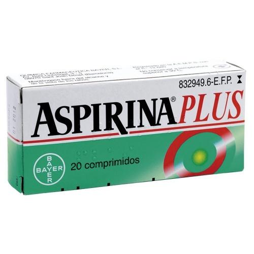ASPIRINA PLUS 500 mg/ 50 mg COMPRIMIDOS , 20 comprimidos