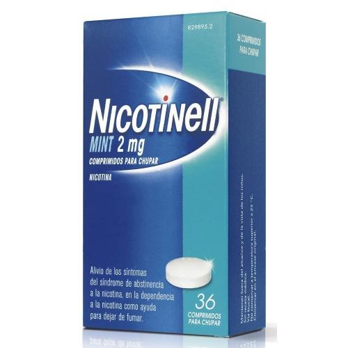NICOTINELL MINT 2 mg COMPRIMIDOS PARA CHUPAR, 36 comprimidos