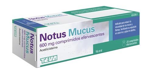 NOTUS MUCUS 600 MG COMPRIMIDOS EFERVESCENTES SABOR NARANJA 20 comprimidos