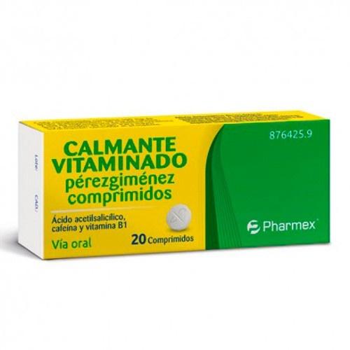 CALMANTE VITAMINADO PEREZGIMENEZ COMPRIMIDOS , 20 comprimidos