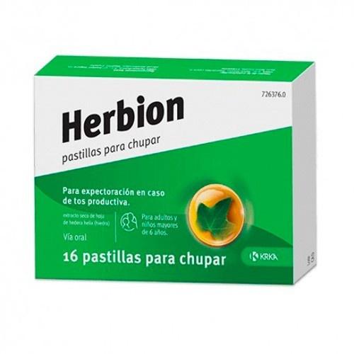 HERBION PASTILLAS PARA CHUPAR, 16 pastillas