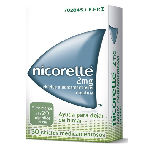 NICORETTE 2 mg CHICLES MEDICAMENTOSOS, 30 chicles
