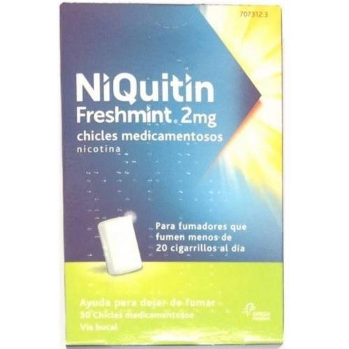 NIQUITIN MINT 2 MG CHICLES MEDICAMENTOSOS 30 chicles (Blister Al/PVC/PVDC)