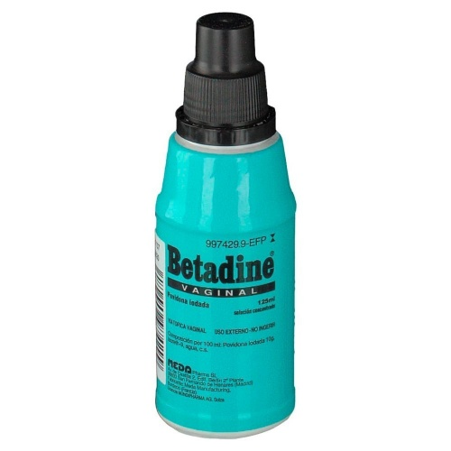 BETADINE VAGINAL 100 MG/ML SOLUCION VAGINAL , 1 frasco de 125 ml