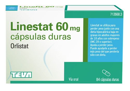 LINESTAT 60 MG CAPSULAS DURAS, 84 cápsulas ( Blister )