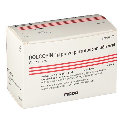 DOLCOPIN 1 g POLVO PARA SUSPENSION ORAL , 30 sobres