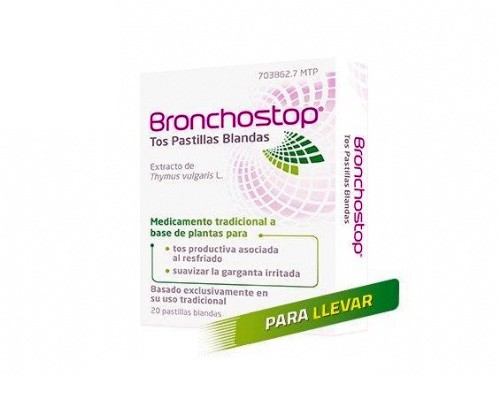 BRONCHOSTOP TOS PASTILLAS BLANDAS , 20 pastillas