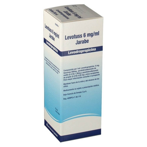 LEVOTUSS 6 mg/ml JARABE , 1 frasco de 200 ml