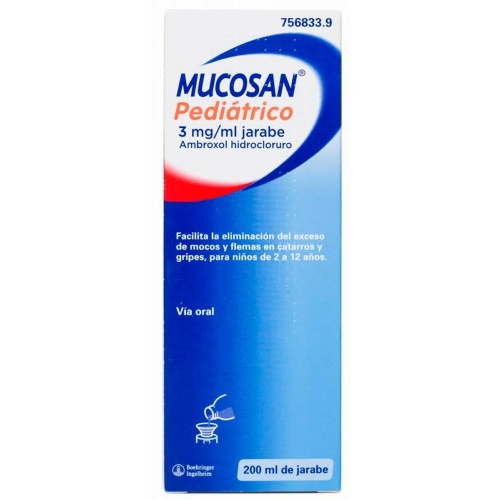 MUCOSAN PEDIATRICO 3 mg/ml JARABE , 1 frasco de 200 ml