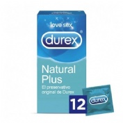 Durex Natural Plus Preservativos (12 U)