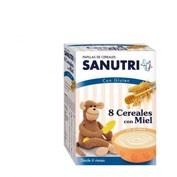 Sanutri papilla 8 cereales con miel (600 g (300 g 2 bolsas))