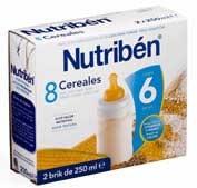 Nutriben 8 cereales liquida  2 x 250 g