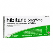 HIBITANE 5MG/5MG COMPRIMIDOS PARA CHUPAR SABOR MENTOL, 20 comprimidos
