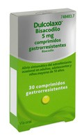 DULCOLAXO BISACODILO 5 mg COMPRIMIDOS GASTRORRESISTENTES , 30 comprimidos