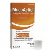 MUCOACTIOL 50 MG/ML SOLUCIÓN ORAL , 1 frasco de 200 ml