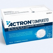 ACTRON COMPUESTO 267 mg / 133 mg / 40 mg COMPRIMIDOS EFERVESCENTES , 20 comprimidos