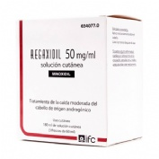 REGAXIDIL 50 mg/ml SOLUCION CUTANEA , 3 frascos de 60 ml