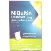 NIQUITIN  FRESHMINT 2 MG CHICLES MEDICAMENTOSOS, 30 chicles (Blister Al/PVC/PVDC)