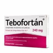 TEBOFORTAN 240 MG COMPRIMIDOS RECUBIERTOS CON PELiCULA, 30 comprimidos