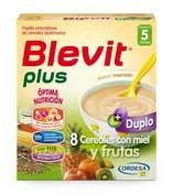 BLEVIT PLUS DUPLO 8 CEREALES CON MIEL Y FRUTAS (600 G)