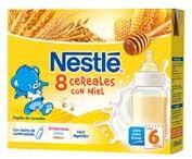 Nestle Papilla 8 Cereales Con Miel Lista Para Tomar (Brik 250 Ml 2 U)