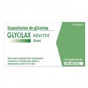 GLYCILAX ADULTOS SUPOSITORIOS , 12 supositorios