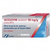 ACICLOVIR SANDOZ CARE 50 MG/G CREMA , 1 tubo de 2 g